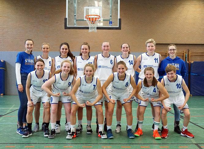 Die Stader Basketball-Damen ließen im Duell mit dem TuS Ebstorf die Muskeln spielen. (Foto: Fromme)