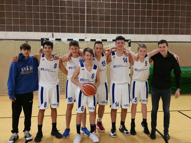 Die mU18 II-Jungs holten in Tostedt ihren ersten Saisonsieg.