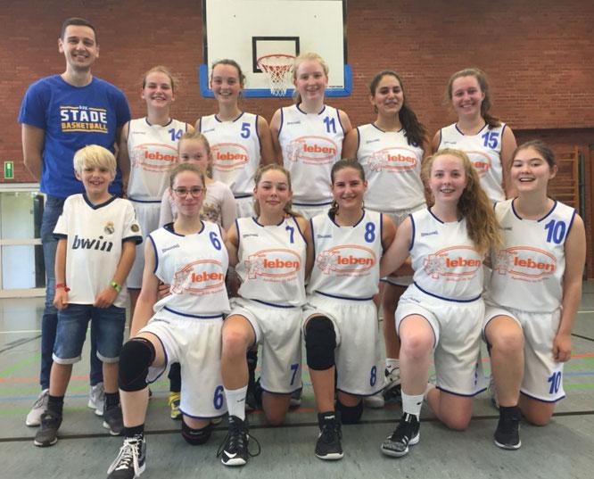 Betrieben erfolgreich Wiedergutmachung: Die U18-Basketballerinnen des VfL Stade. (Foto: Schägner)