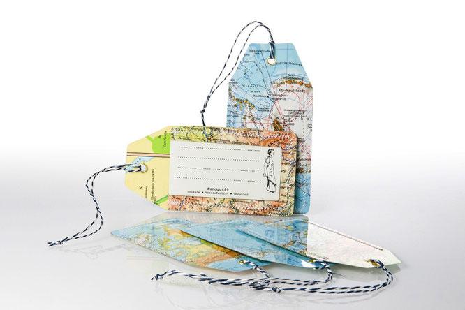 Kofferanhänger Atlas Reisen Koffer Design Recycling nachhaltig Upcycling ichwareinedose Ich war eine Dose basteln doityourself diy do it yourself handmade nachhaltig nachhaltigkeit sustainable eco ecofriendly öko ökologisch kreativ