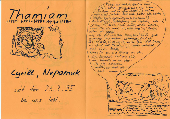 Thamiam, Thamiam Kirchhofer, Cyrill Thamiam Nepomuk,