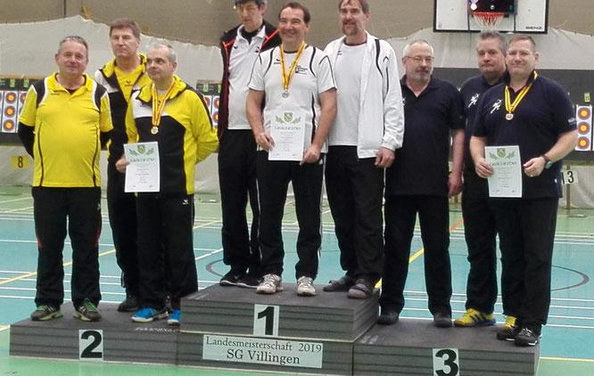 Unsere Mitglieder auf Platz 3 der Mannschaften (v.r.n.l. John Henn, Olaf Koch, Oliver Sailer)