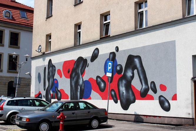 Street art by Karol Kobryn in Katowice