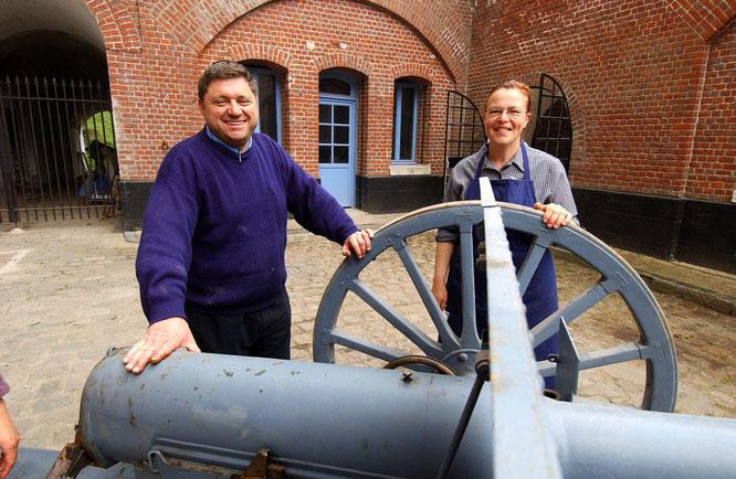 Didier et Annick Boniface, propriétaires du Fort de seclin
