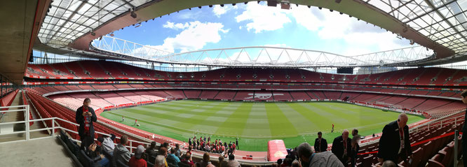 Das Emirates Stadium des Arsenal FC