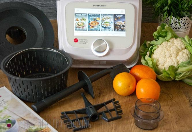 Monsiuer Cuisine Connect mit Zubehör und Gemüse-Obst-Deko