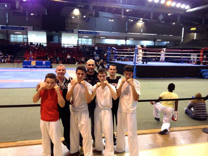 Nos 4 champions : Nils, Victor, Dylan et Hugo (de gauche à droite)