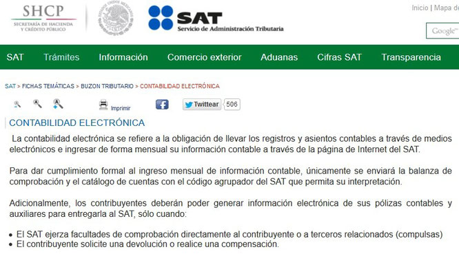 Clic para entrar a la página del SAT.