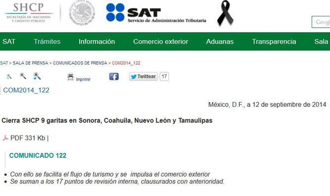 CLIC EN IMAGEN PARA PODER VER EL TEXTO COMPLETO DEL COMUNICADO.