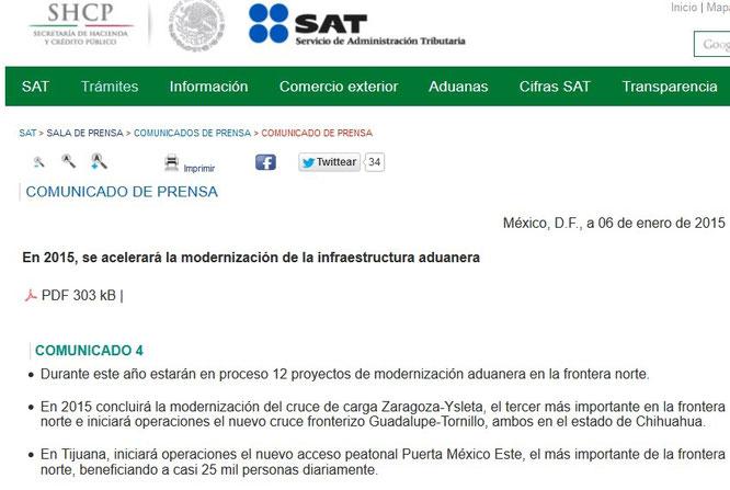 Clic para entrar a la página del SAT