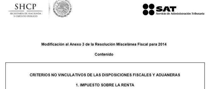 CLIC PARA ENTRAR A PAGINA DE SAT Y VER EL ANEXO NO. 3  ACTUALIZADO AL 28 DE NOVIEMBRE DEL 2014.