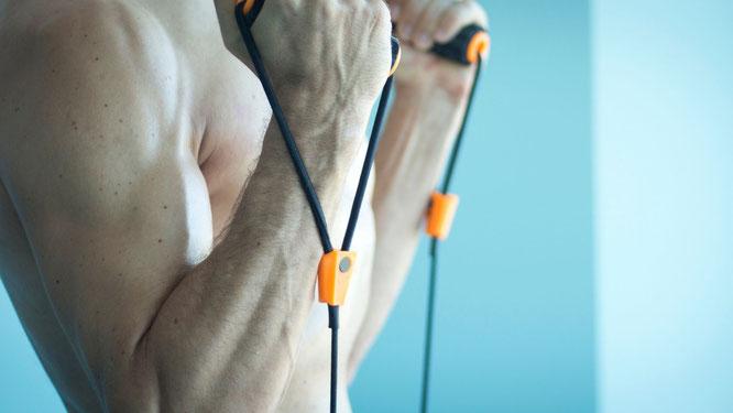 Fitness-Bänder mit Griff