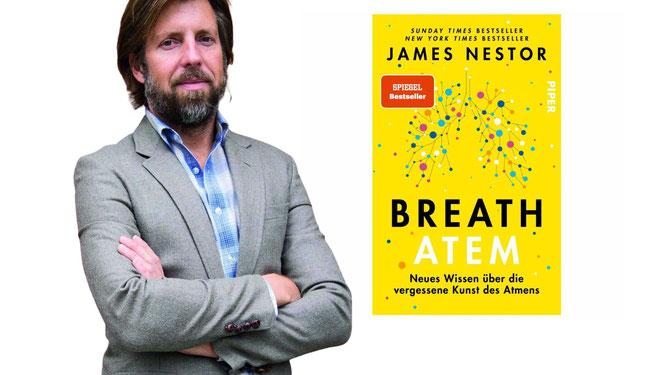 """Autor James Nestor mit Buch """"Breath"""""""