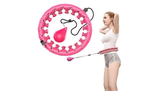 Hula-Hoop-Reifen mit Gewicht und Massagenoppen