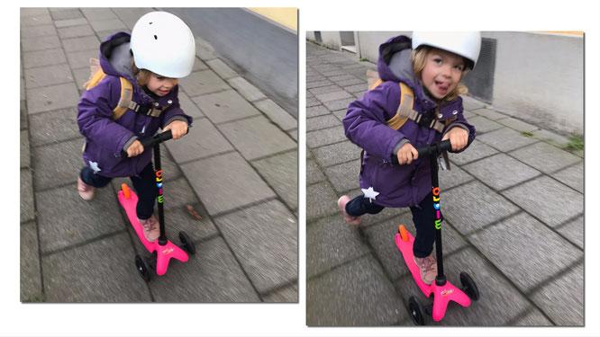 Kind mit Mini Micro Roller