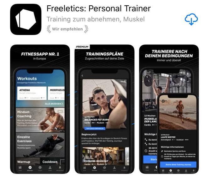 Freeletics-Screenshots