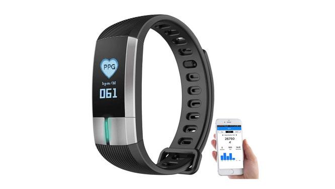 Fitnesstracker mit Blutdruckmessung