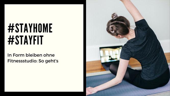 Frau trainiert zuhause