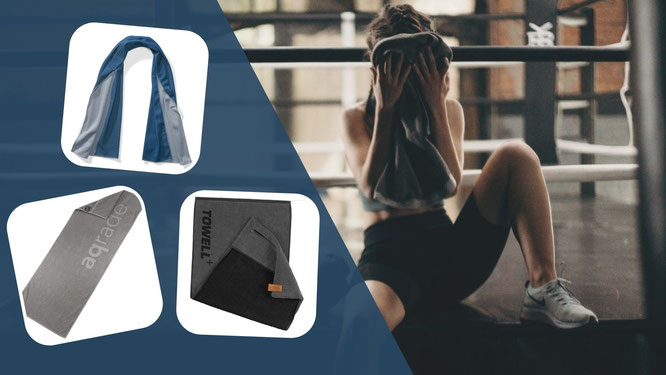 Frau mit Fitness-Handtuch
