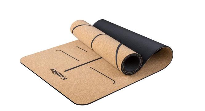 Yogamatte aus Kork und Kautschuk