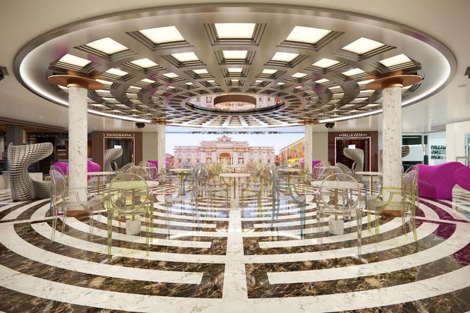 Kreuzfahrtschiff Costa Smeralda Piazza Deck 7