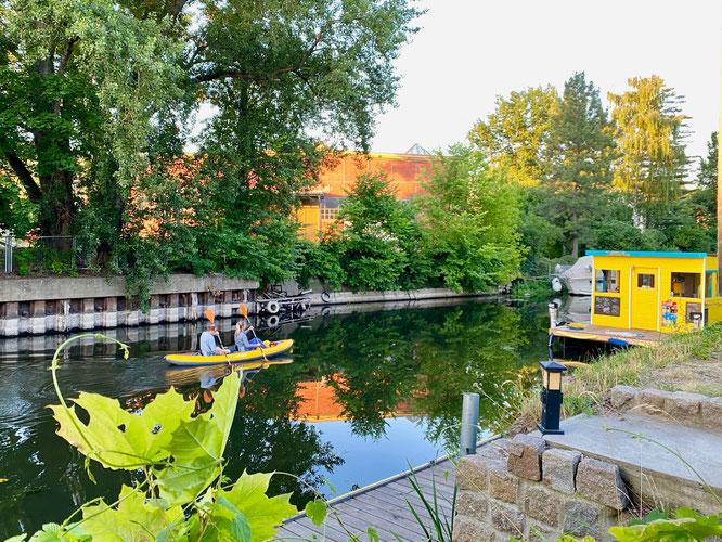 Havelkanal, Brandenburg an der Havel, Paddler