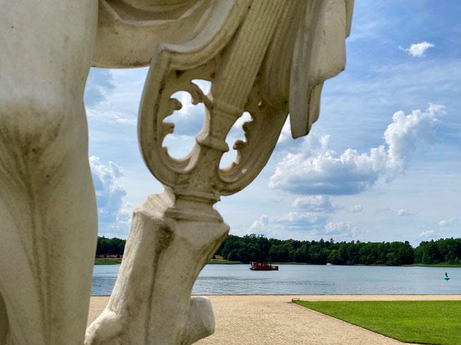 Schloss Rheinsberg, Ruppiner Seenland, Brandenburg, Hausboot