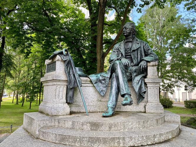 Fontane-Denkmal Neuruppin, Ruppiner Seenland, Brandenburg