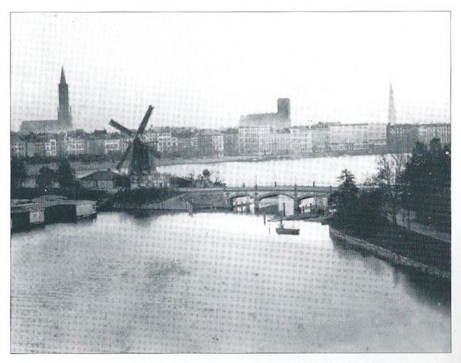 Mühle an der Lombardsbrücke