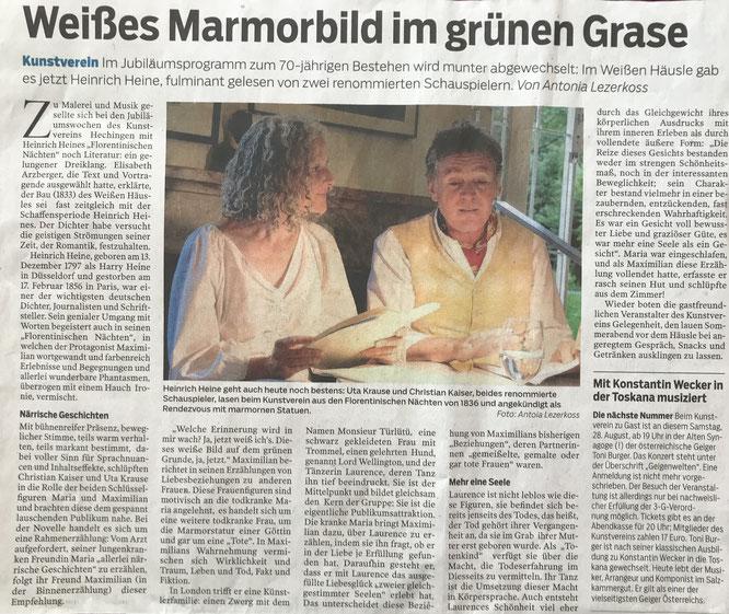 © Hohenzollerische Zeitung, 24.8.2021