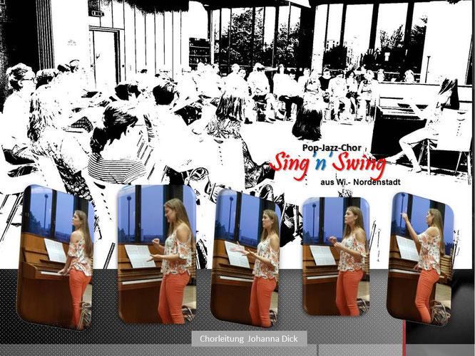 Chorprobe Sing'n'Swing mit Chorleiterin Johannna Dick