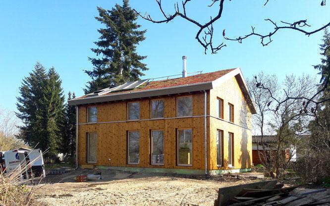 Holzständerwerk Holzhaus Seeseite