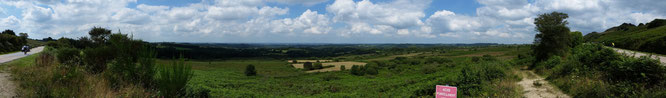 Panorama near Carhaix-Plouguer, France during Paris-Brest-Paris 2015 Randonneur Cycing