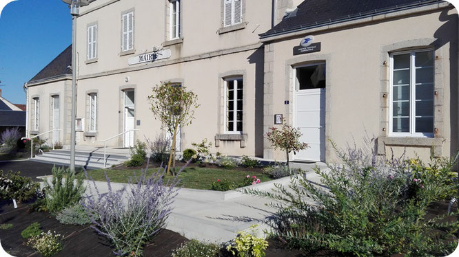 2018 : aménagement du jardin de la mairie
