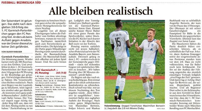 Garmischer Tagblatt vom 31.07.2017