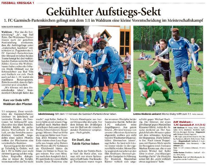 Ga-Pa Tagblatt vom 15.05.2017