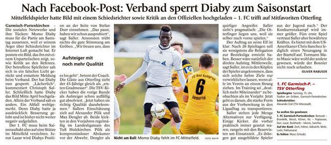Garmischer Tagblatt vom 13.08.2016