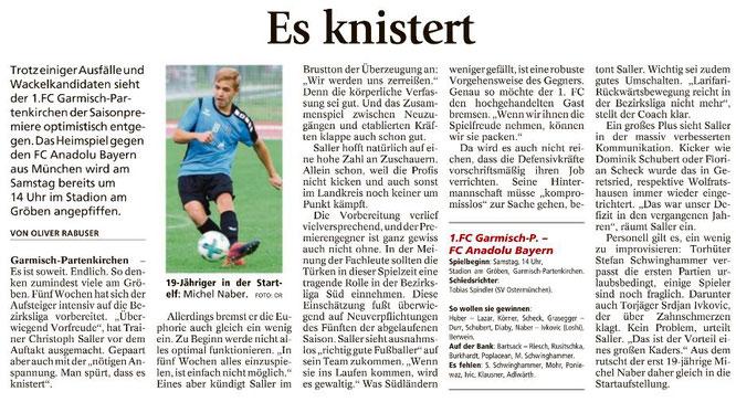 Garmischer Tagblatt vom 22.07.2017