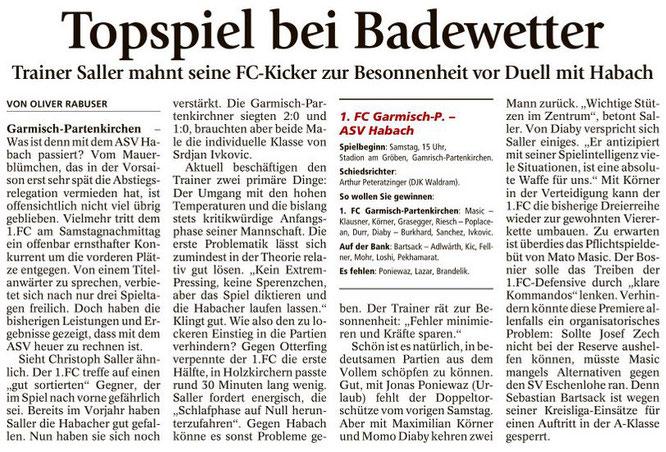 Garmischer Tagblatt vom 27.08.2016