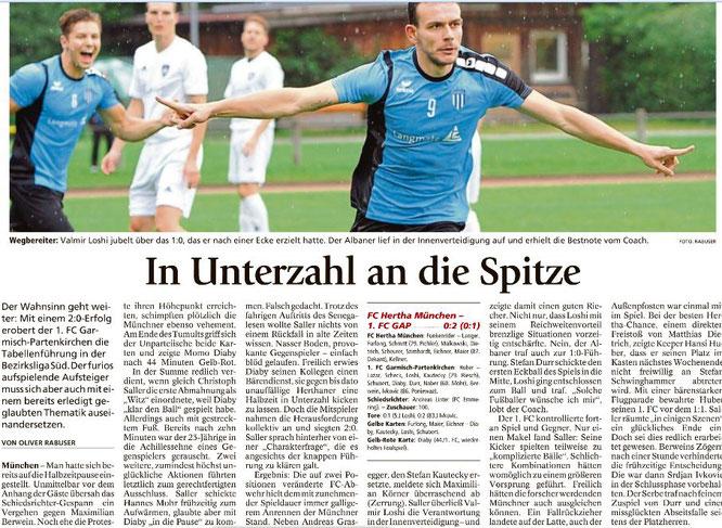 Garmischer Tagblatt vom 07.08.2017