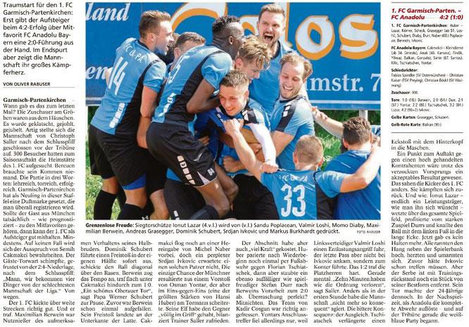 Garmischer Tagblatt vom 24.07.2017