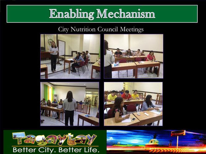 市の栄養会議で栄養改善を図る