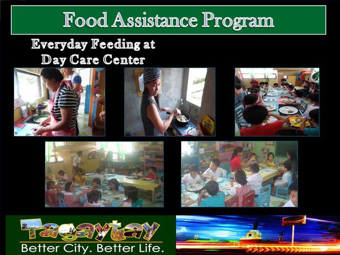 デイケアセンターでの日々の食事提供プログラム