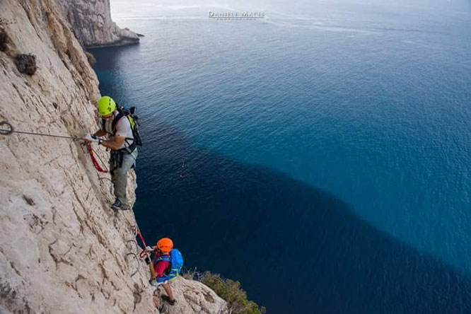 Via Ferrata del Cabirol di Alghero (Foto di Daniele Macis)