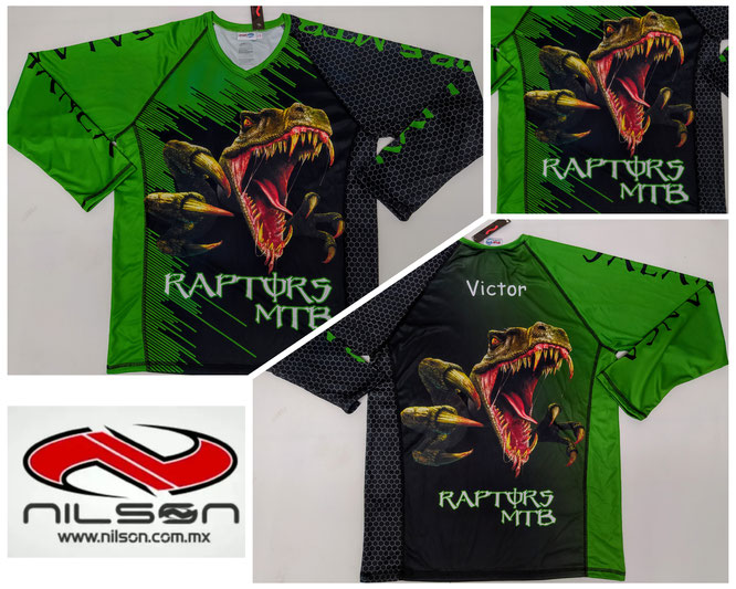 PLAYERA RAPTORS MTB NILSON SUBLIMACION