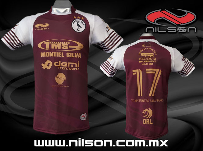 playera futbol soccer sublimacion digital, nilson ropa deportiva Transportes Salamanca, guinda