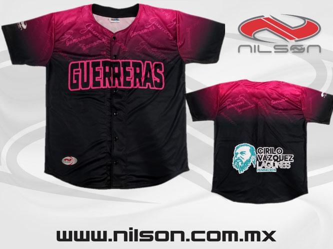 JERSEY BEISBOL SUBLIMACION GUERRERAS nilson ropa deportiva