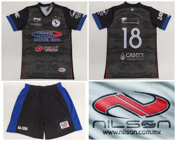 Modelo Sublimado TMS negro marca NILSON ropa deportiva FUTBOL