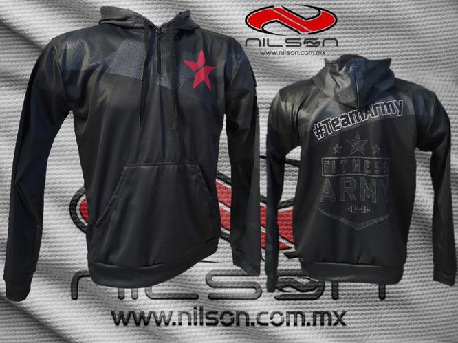 sudadera sublimada Army Gym marca nilson