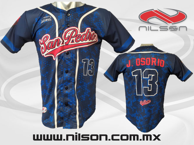 jersey beisbol san pedro sublimacion digital Nilson ropa deportiva
